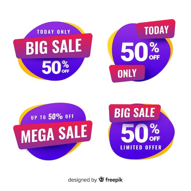 Продажа этикеток Бесплатные векторы