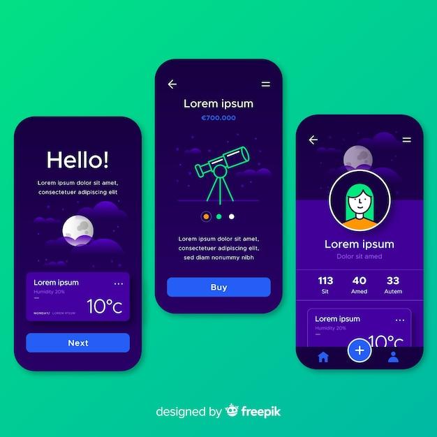 手描きの携帯アプリのコンセプト 無料ベクター