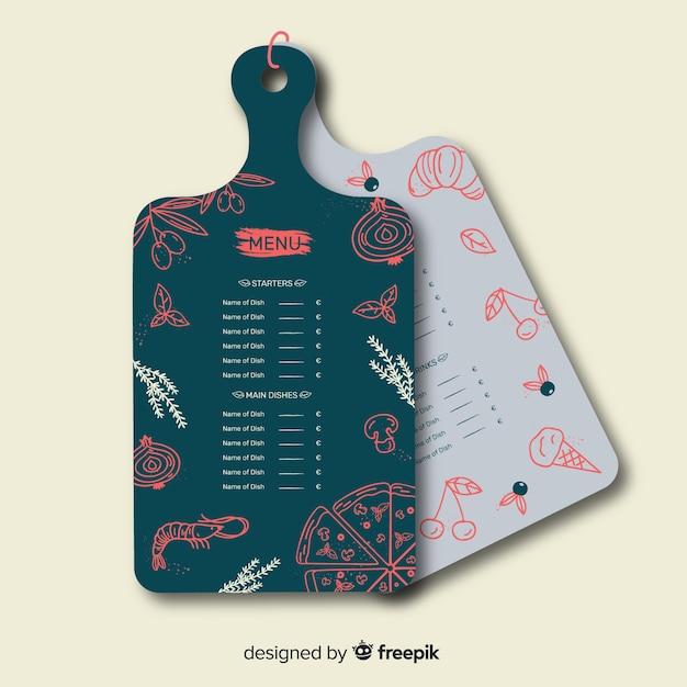 Шаблон оформления меню для ресторана Бесплатные векторы