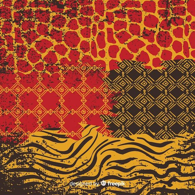 Африканская ткань и фон из кожи животных Бесплатные векторы