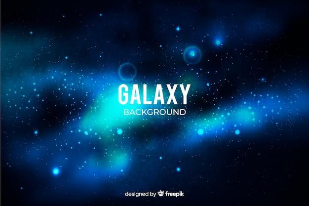 現実的な銀河の背景 無料ベクター