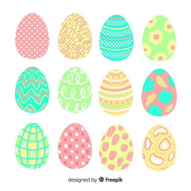 復活祭の日の卵のコレクション 無料ベクター