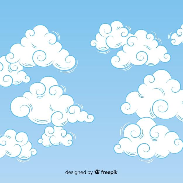 空の背景 無料ベクター