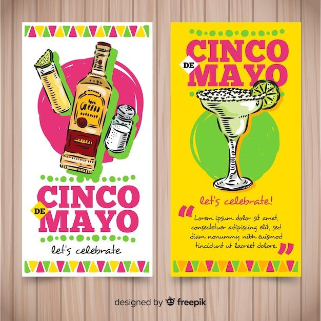 Синко де майо баннеры Бесплатные векторы
