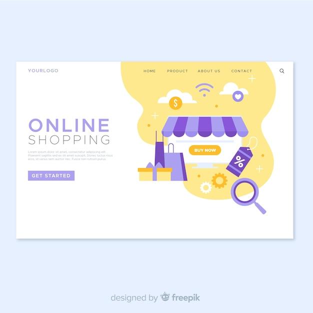 Целевая страница интернет-магазина Бесплатные векторы