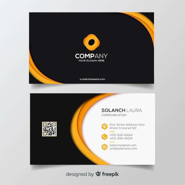 Плоский шаблон визитной карточки Бесплатные векторы