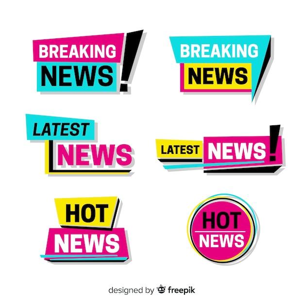 Коллекция последних новостей Бесплатные векторы