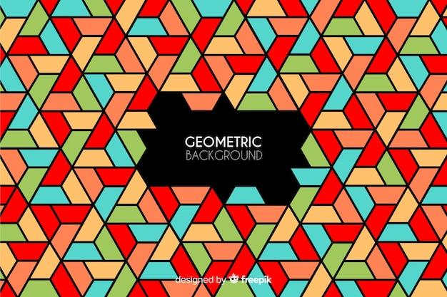 幾何学的な背景 無料ベクター