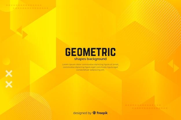 グラデーションの幾何学的図形の背景 無料ベクター