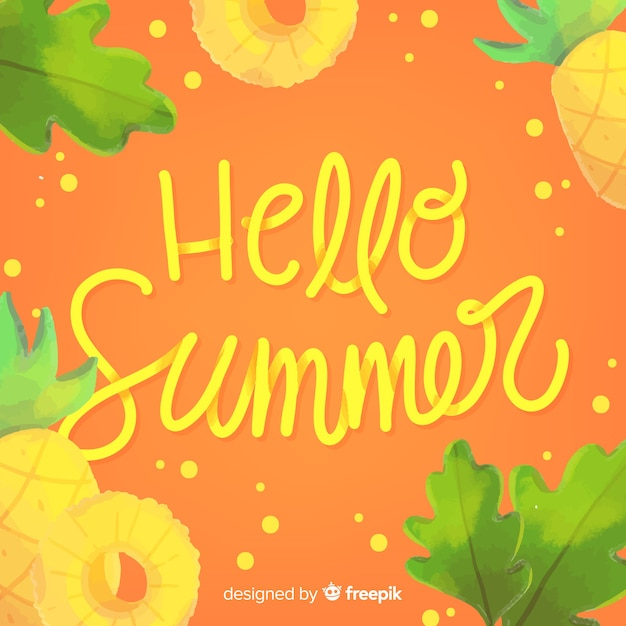 こんにちは夏の背景 無料ベクター