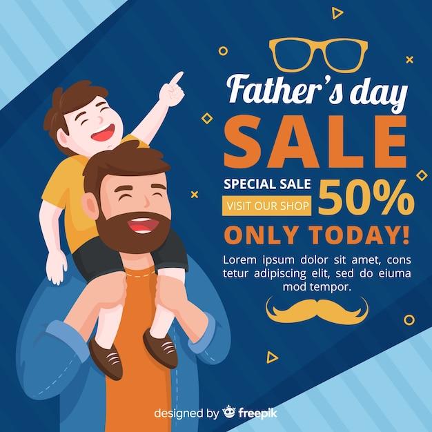 День отца продаж Бесплатные векторы