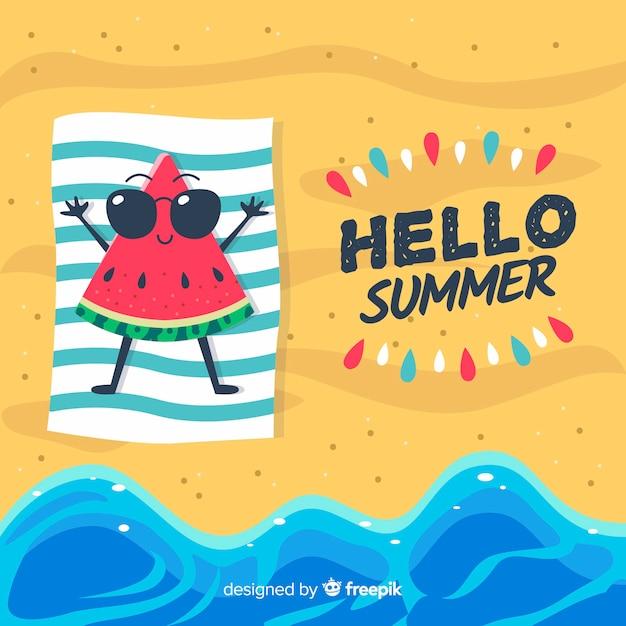こんにちは夏 無料ベクター