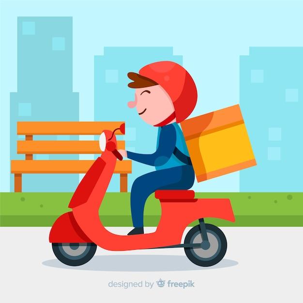 Доставка мотоциклов, Бесплатные векторы