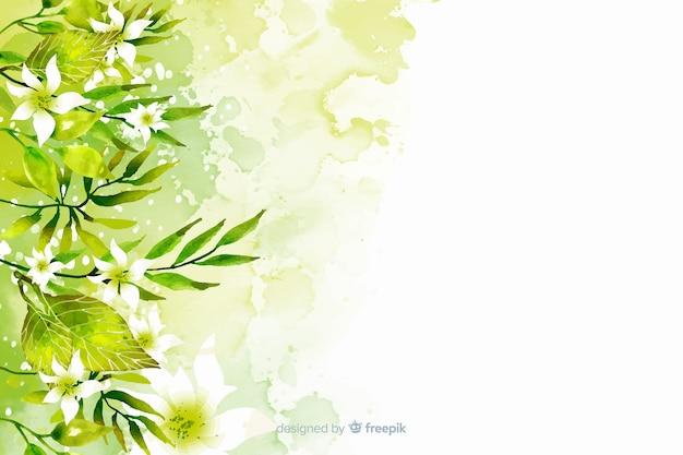 植物の背景 無料ベクター