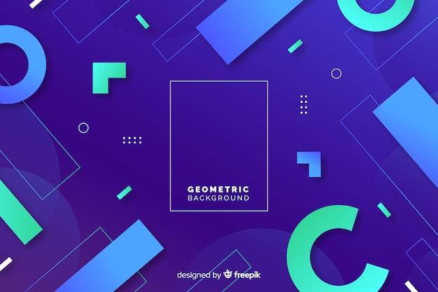 Геометрический фон с градиентами Бесплатные векторы