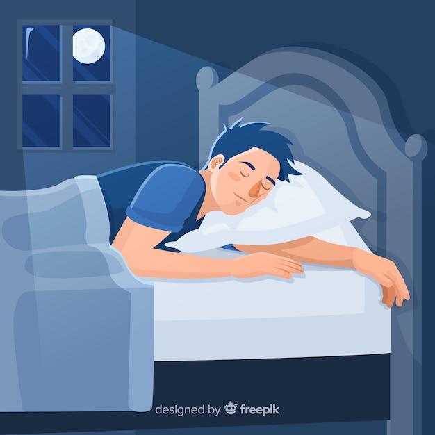 Спать в кровати картинка