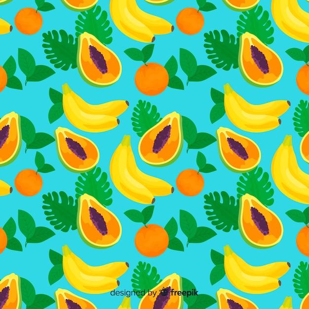 Тропические фрукты Бесплатные векторы