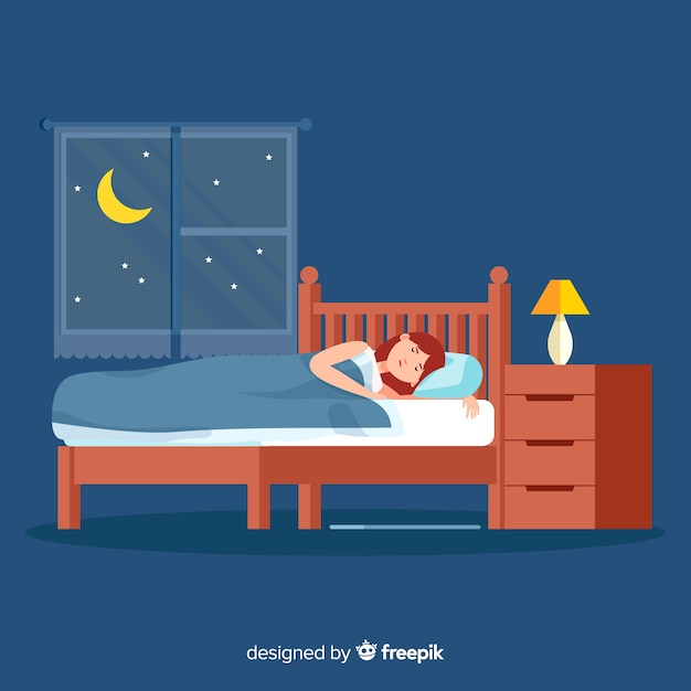 Человек спит Бесплатные векторы