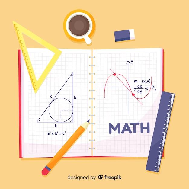 漫画の数学の背景 無料ベクター
