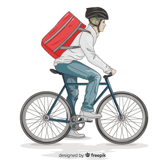 Концепция доставки велосипедов Бесплатные векторы