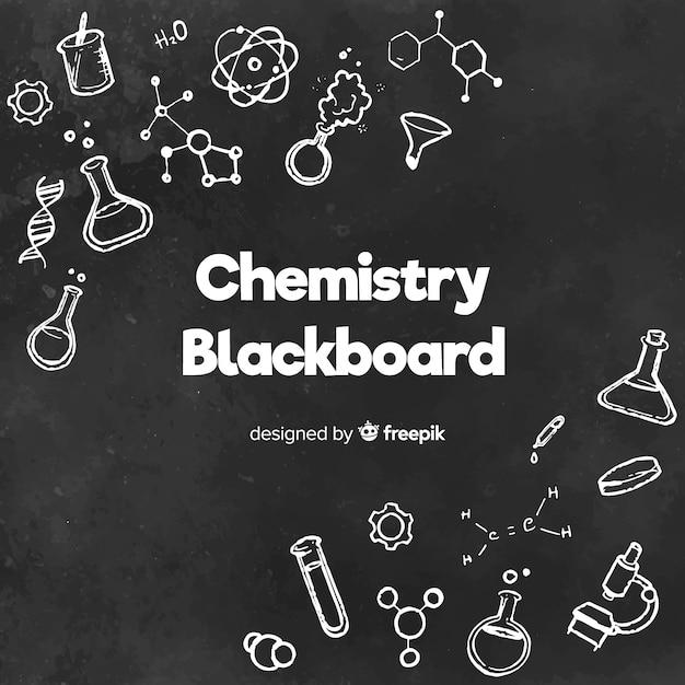 黒板に化学 無料ベクター