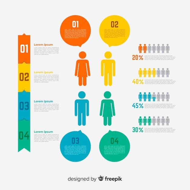 Люди инфографики Бесплатные векторы