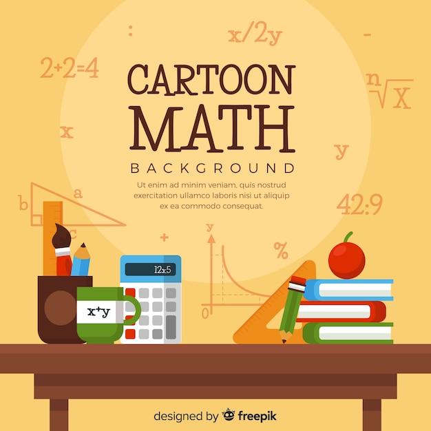 Мультфильм математика фон Бесплатные векторы