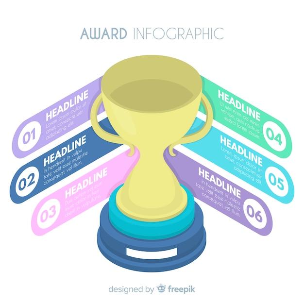 賞のインフォグラフィック 無料ベクター