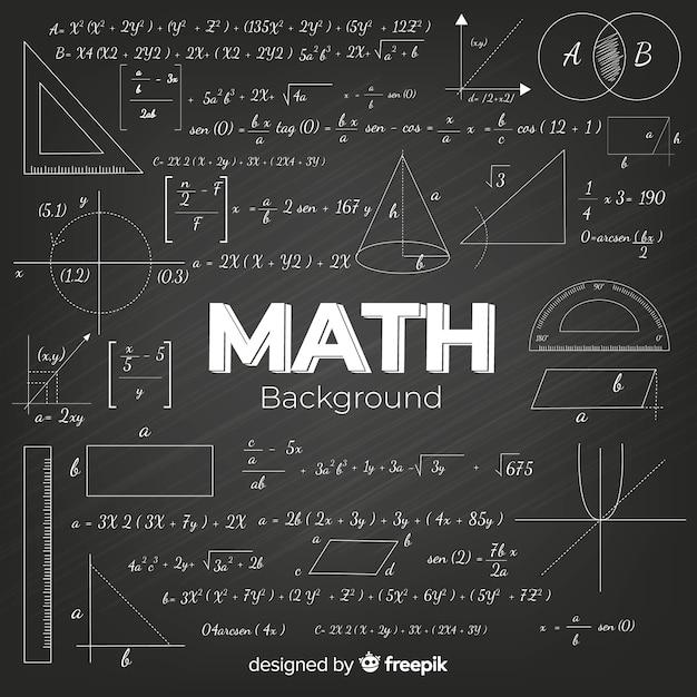 現実的な数学黒板背景 無料ベクター
