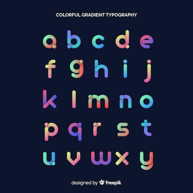 Красочная градиентная типография Бесплатные векторы
