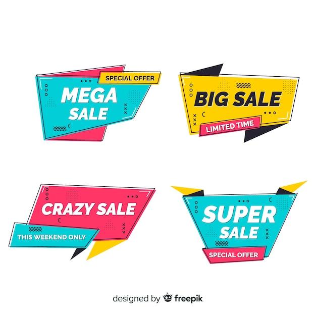 Мемфис продажа баннеров Бесплатные векторы