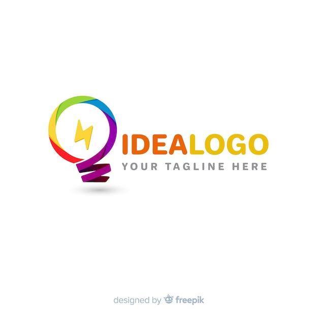 グラデーションの抽象的なロゴのテンプレート 無料ベクター