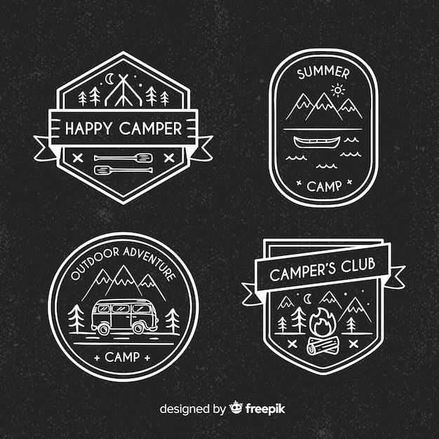Коллекция рисованной приключений логотипы Бесплатные векторы