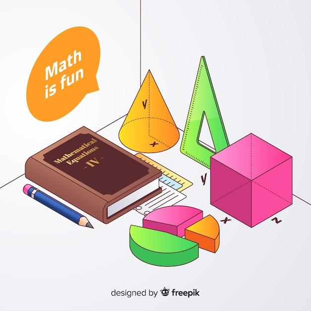 等尺性数学要素の背景 無料ベクター