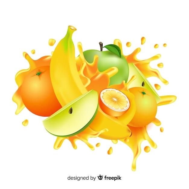 Реалистичная иллюстрация манго Бесплатные векторы