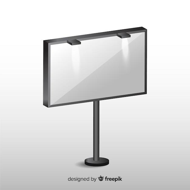 Реалистичный пустой рекламный щит Бесплатные векторы