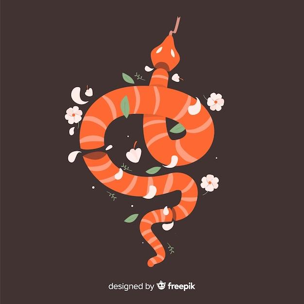 ヘビの花のイラスト 無料ベクター
