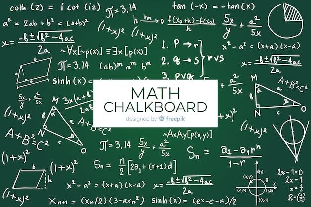 Математика реалистичный фон доске Бесплатные векторы