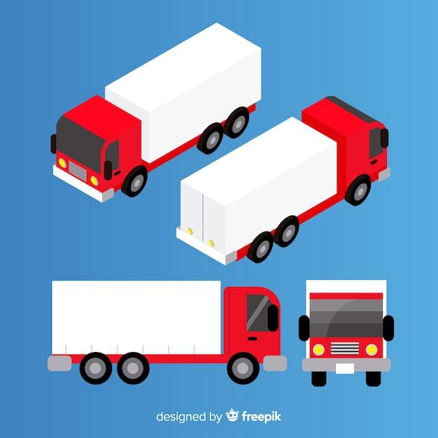 等尺性トラックの視点コレクション 無料ベクター