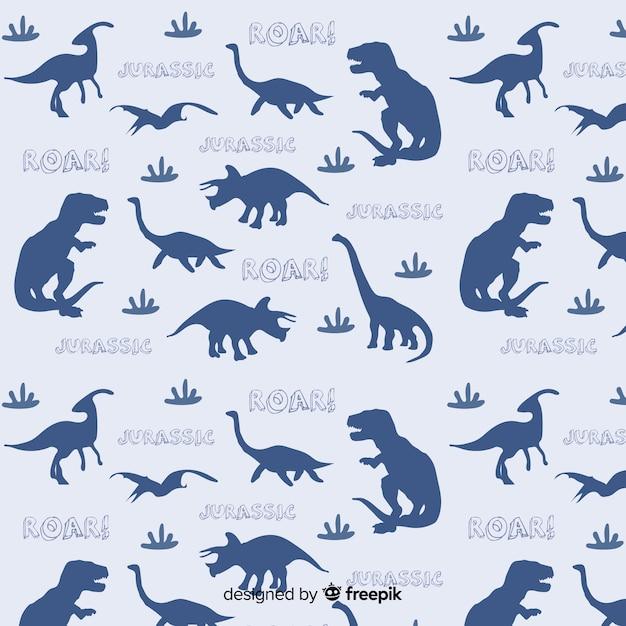 恐竜のパターン 無料ベクター