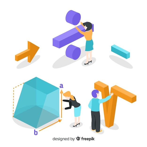 等尺性数学の概念の背景 無料ベクター
