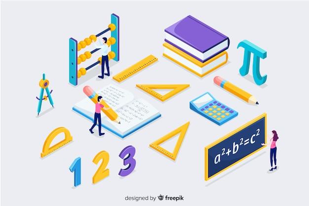 等尺性数学の概念の背景 Premiumベクター