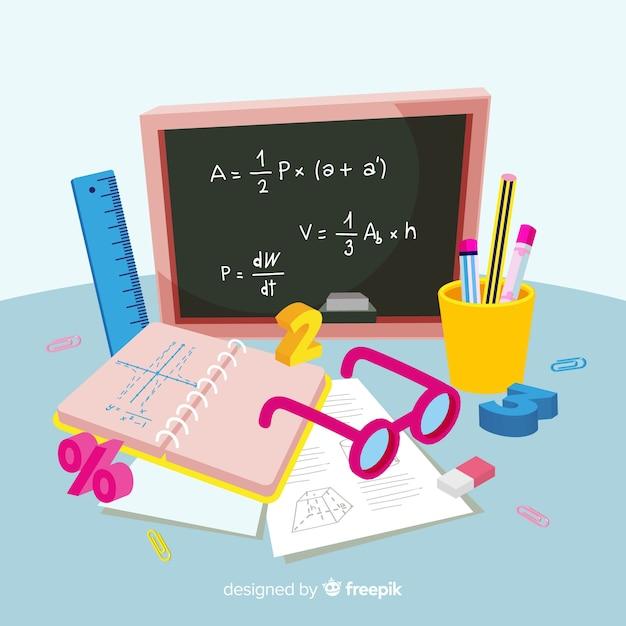 漫画数学の概念の背景 無料ベクター