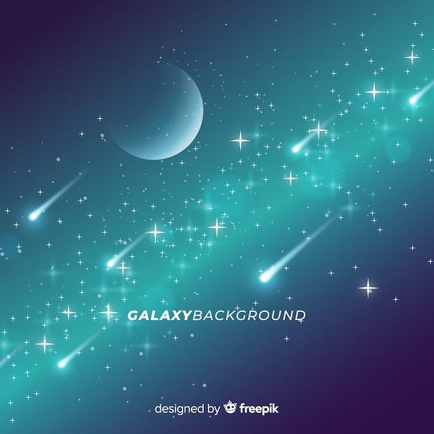 銀河の背景デザイン 無料ベクター