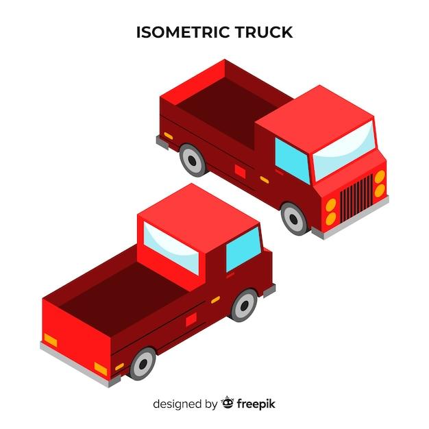 Изометрическая коллекция перспектив грузовика Бесплатные векторы
