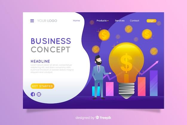 Бизнес целевая страница Бесплатные векторы