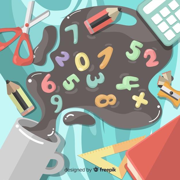 漫画の数学要素の背景 無料ベクター