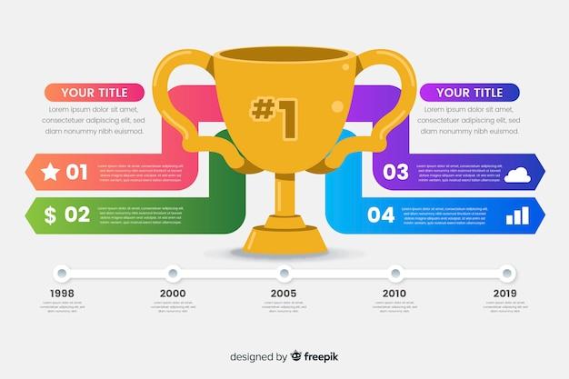 Награда инфографики Бесплатные векторы