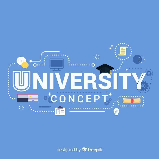 Плоская концепция университета Бесплатные векторы