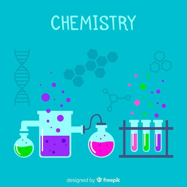 Химический фон Бесплатные векторы